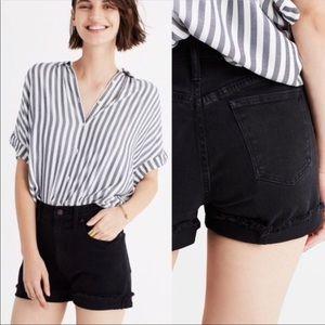Madewell Denim Black Shorts Size 26